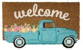 Springtime Pickup Natural Fiber Coir Doormat