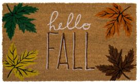 Hello Fall Natural Fiber Coir Doormat