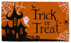 Trick Or Treat Halloween Natural Fiber Coir Doormat