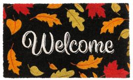 Welcome Leaves Fall Natural Fiber Coir Doormat