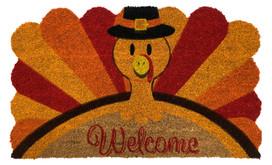 Turkey Welcome Thanksgiving Natural Fiber Coir Doormat