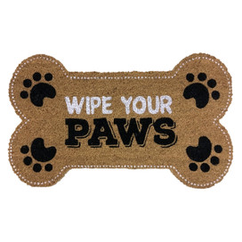 Wipe Your Paws Pet Natural Fiber Coir Doormat
