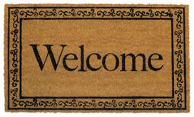 Welcome Natural Fiber Coir Doormat