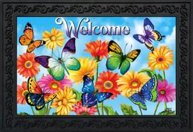 Fluttering Butterflies Spring Doormat