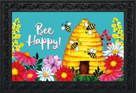 Bee Happy Hive Spring Doormat