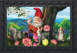 Garden Gnome Spring Doormat