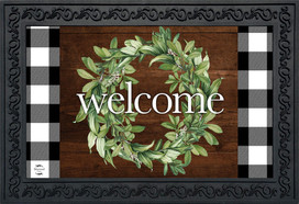 Farmhouse Wreath Spring Doormat