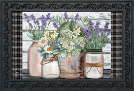 Farmhouse Flowers Spring Doormat