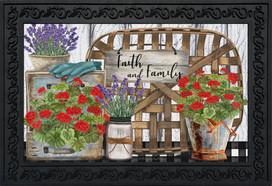 Faith and Family Farmhouse Spring Doormat