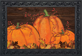 Rustic Pumpkin Patch Fall Doormat