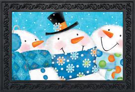 Snow Buds Winter Doormat