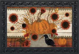 Primitive Pumpkins Autumn Doormat