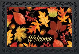 Fall Leaves & Acorns Welcome Doormat