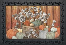 Pumpkins and Willows Autumn Doormat