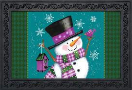 Winter Wonderland Snowman Doormat