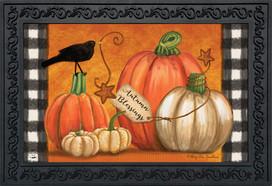 Rustic Pumpkins Fall Doormat