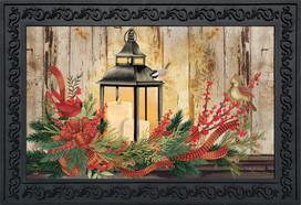 Holiday Lantern Christmas Doormat