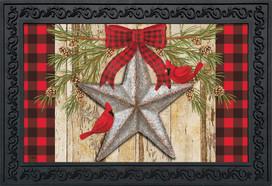 Festive Barnstar Winter Doormat