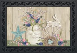 Gifts of Spring Primitive Doormat