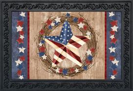 Americana Barnstar Patriotic Doormat