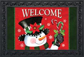 Christmas Snowman Welcome Doormat