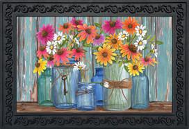 Farm Fresh Flowers Spring Doormat