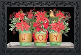 Joy Mason Jars Christmas Doormat