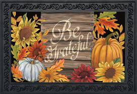 Be Grateful Thanksgiving Doormat