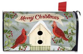 Christmas Cardinal Birdhouse Large / Oversized Mailbox Cover