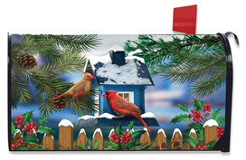 Snow Day Cardinals Winter Large / Oversized Mailbox Cover