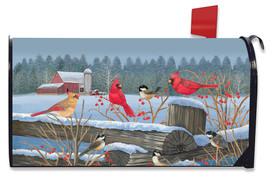 Birds of Winter Cardinals Mailbox Cover