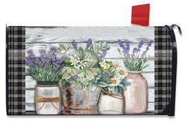 Farmhouse Flowers Spring Mailbox Cover