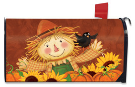 Happy Scarecrow Fall Mailbox Cover