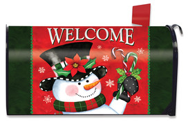 Christmas Snowman Welcome Mailbox Cover