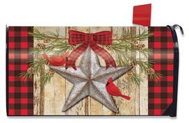Festive Barnstar Winter Mailbox Cover