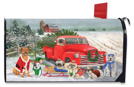 Holiday Dogs Christmas Mailbox Cover