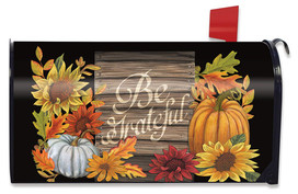 Be Grateful Autumn Magnetic Mailbox Cover