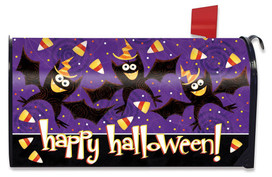 Happy Halloween Bats Magnetic Mailbox Cover