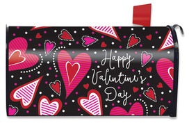 Dancing Hearts Valentine's Day Magnetic Mailbox Cover