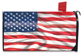 American Flag Waving Magnetic Mailbox Cover