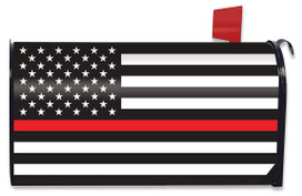 Thin Red Line Magnetic Mailbox Cover