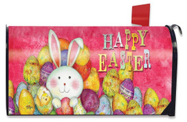 Happy Easter Eggs Magnetic Mailbox Cover