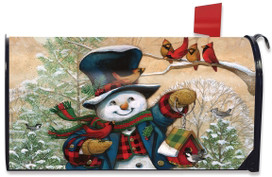 Winter Friends Snowman Magnetic Mailbox Cover