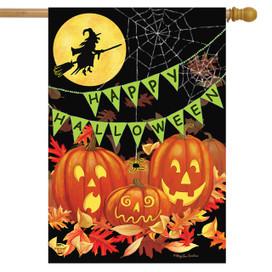 Halloween Haunts House Flag