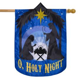 O, Holy Night Christmas Applique House Flag