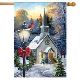Come All Ye Faithful Winter House Flag