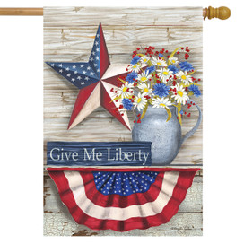 Give Me Liberty Patriotic House Flag