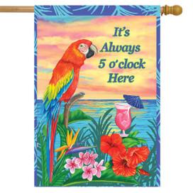 Always 5 O'Clock Summer House Flag