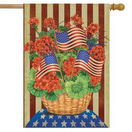 Patriotic Planter House Flag