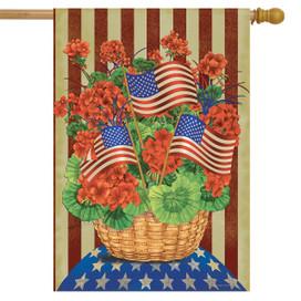 Patriotic Planter House Flag